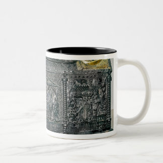 Casket containing the remains of St. Simeon Two-Tone Coffee Mug
