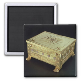 Casket from the tomb of Philip II of Macedon 2 Inch Square Magnet