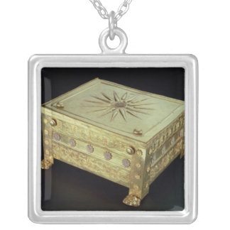 Casket from the tomb of Philip II of Macedon Square Pendant Necklace