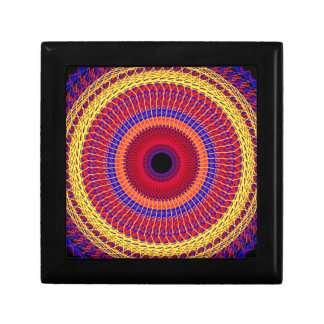 Casket memory of the 70's multicolored keepsake box