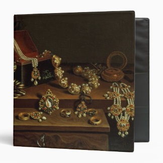 Casket of jewels on a table 3 ring binder