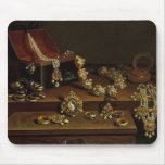 Casket of jewels on a table mouse pad