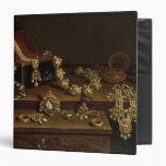 Casket of jewels on a table vinyl binder