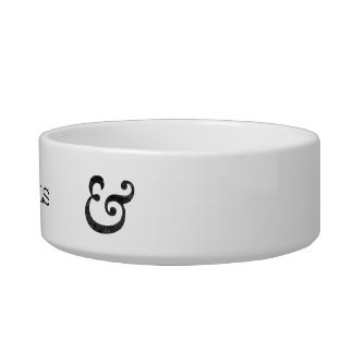 Caslon Bold Italic Ampersand Black Pet Food Bowls