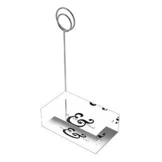 Caslon Bold Italic Ampersand Black Place Card Holder