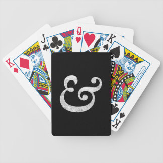 Caslon Bold Italic Ampersand White Bicycle Playing Cards