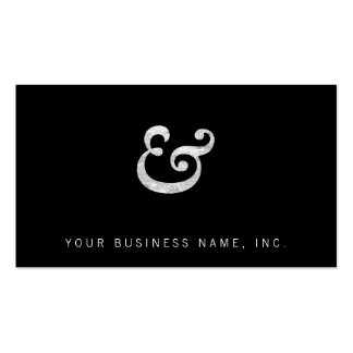 Caslon Bold Italic Ampersand White Double-Sided Standard Business Cards (Pack Of 100)