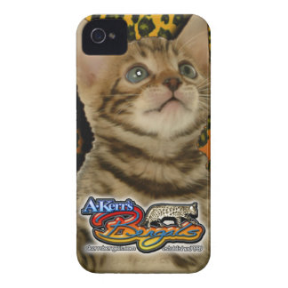 Caso 02 del gatito del iPhone 4/4S de A-Kerr Funda Para iPhone 4