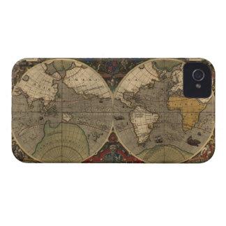 Caso 1595 del iPhone 4 del mapa del mundo del Funda Para iPhone 4