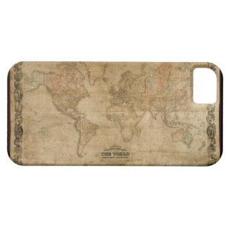Caso 1847 del iPhone 5 del mapa del mundo del oro  iPhone 5 Coberturas