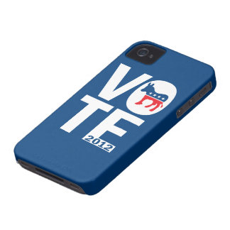 Caso 2012 del iPhone 4 de Demócrata Obama del voto Carcasa Para iPhone 4 De Case-Mate