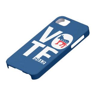 Caso 2012 del iPhone 5 de Demócrata Obama del voto Funda Para iPhone 5 Barely There