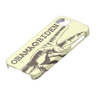 Caso 2012 del iPhone 5 de la paz de Obama Biden Funda Para iPhone 5 Barely There