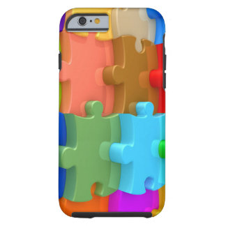 Caso 3D Puzzl multicolor del iPhone 6 de la Funda Resistente iPhone 6