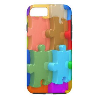 Caso 3D Puzzl multicolor del iPhone 7 de la Funda iPhone 7