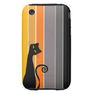 Caso 3GS del iPhone 3G el   del gato negro iPhone 3 Tough Cárcasas