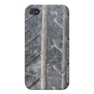 Caso 4/4S del iPhone de la pisada del neumático iPhone 4 Protectores