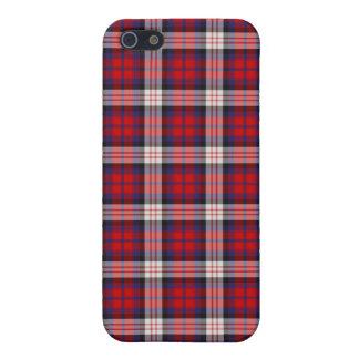 Caso 4 \ 4s del iPhone del tartán de MacDonald iPhone 5 Cobertura