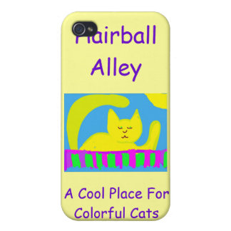 Caso 4 de Iphone del callejón del Hairball iPhone 4 Funda