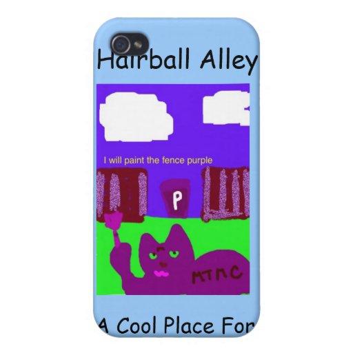 Caso 4 de Iphone del callejón del Hairball iPhone 4/4S Fundas