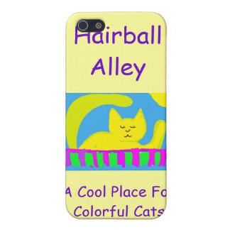 Caso 4 de Iphone del callejón del Hairball iPhone 5 Fundas
