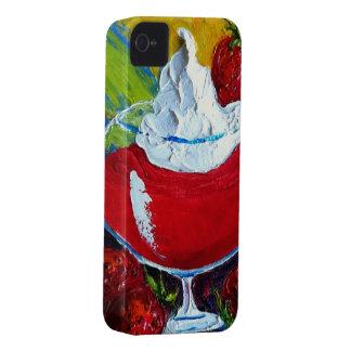 Caso 4 del iPhone del daiquirí de fresa iPhone 4 Case-Mate Funda