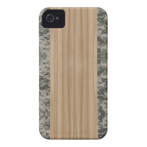 Caso 4 y 4S del iPhone de madera y de Camo Case-Mate iPhone 4 Coberturas