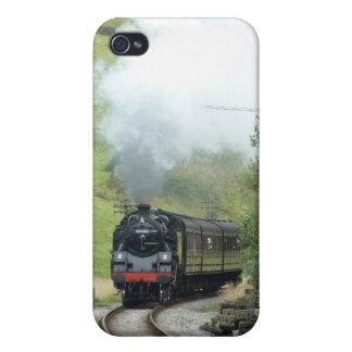 Caso 4S del iphone 4 del tren del motor de vapor iPhone 4/4S Carcasas