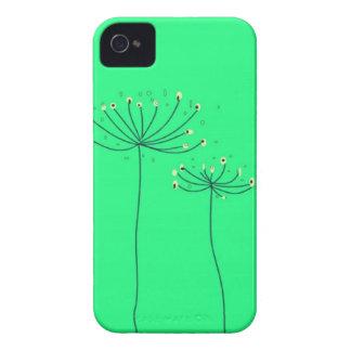 Caso 4S del verde 4 de la silueta de la flor del d iPhone 4 Protector