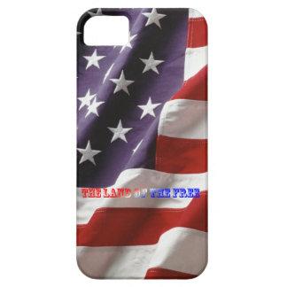 Caso 5/5S del iPhone de la bandera americana iPhone 5 Protector