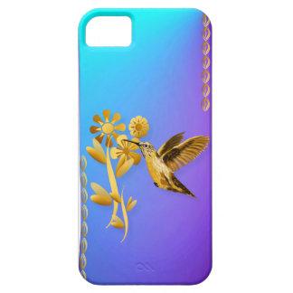 Caso 5 del iphone del colibrí del oro funda para iPhone 5 barely there