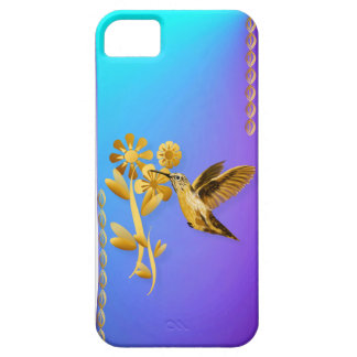 Caso 5 del iphone del colibrí del oro funda para iPhone SE/5/5s