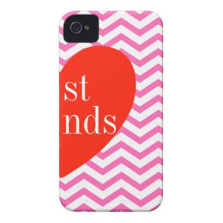 caso a juego de los mejores amigos rosados de iPhone 4 Case-Mate cobertura
