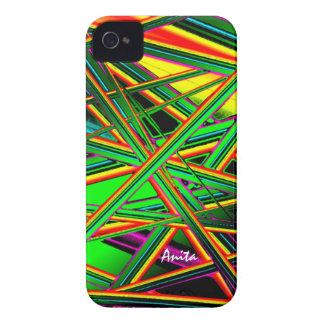 Caso a todo color del iphone 4 de Anita Case-Mate iPhone 4 Funda