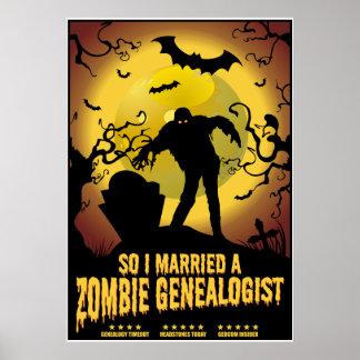 Casó a un Genealogist del zombi Impresiones