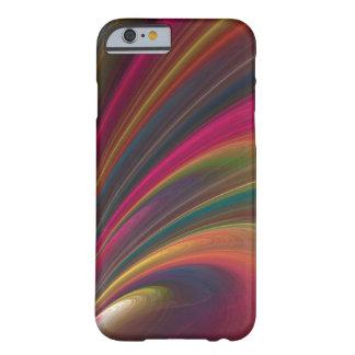 Caso abstracto bonito de los remolinos del color funda de iPhone 6 barely there