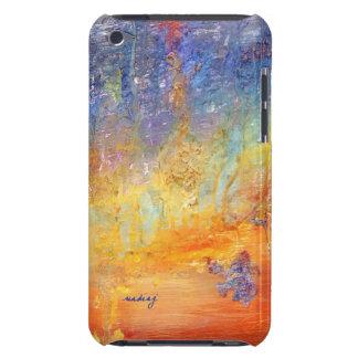 Caso abstracto de encargo de la puesta del sol iPod Case-Mate cobertura