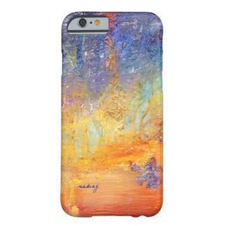 Caso abstracto de encargo de la puesta del sol funda barely there iPhone 6