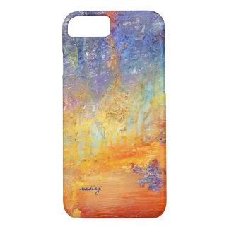 Caso abstracto de encargo de la puesta del sol funda iPhone 7