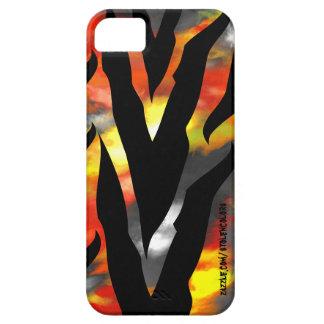 Caso abstracto de Iphone 5 del estampado de zebra iPhone 5 Protectores