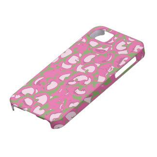 Caso abstracto de Iphone del rosa y del verde iPhone 5 Carcasas