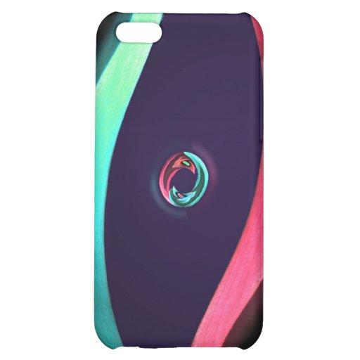 Caso abstracto de neón del iPhone de Yin Yang