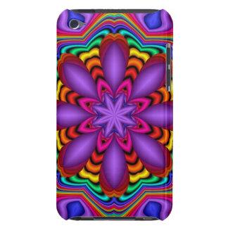 Caso abstracto decorativo con la flor de la fantas iPod Case-Mate funda