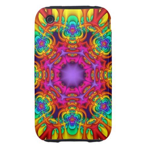 Caso abstracto del iPhone 3 del caleidoscopio del  iPhone 3 Tough Cárcasa