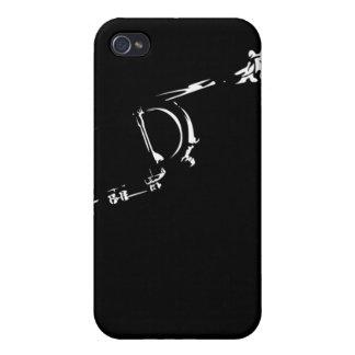 Caso abstracto del iphone 4 de la trompeta del jaz iPhone 4/4S funda