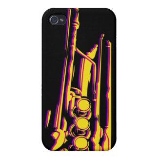 Caso abstracto del iphone 4 de la trompeta del jaz iPhone 4 coberturas