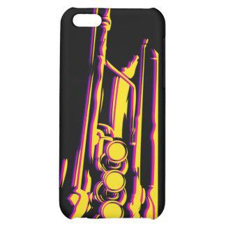 Caso abstracto del iphone 4 de la trompeta del jaz
