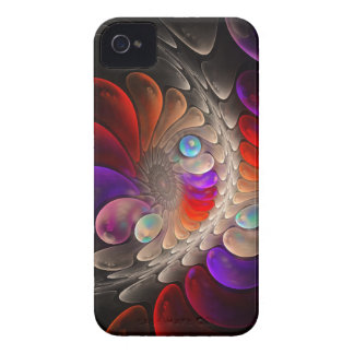 Caso abstracto del iPhone 4 del fractal la burbuja Case-Mate iPhone 4 Cárcasas