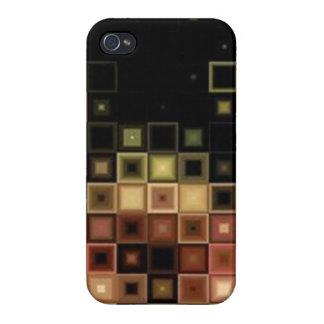 Caso abstracto del iPhone 4 del modelo de la teja iPhone 4 Protectores