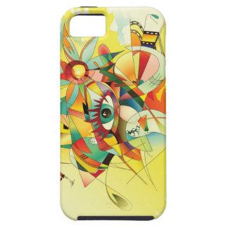 Caso abstracto del iPhone 5 de la pintura de la ac iPhone 5 Carcasas